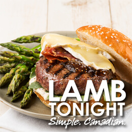 Lamb Burger with asparagus