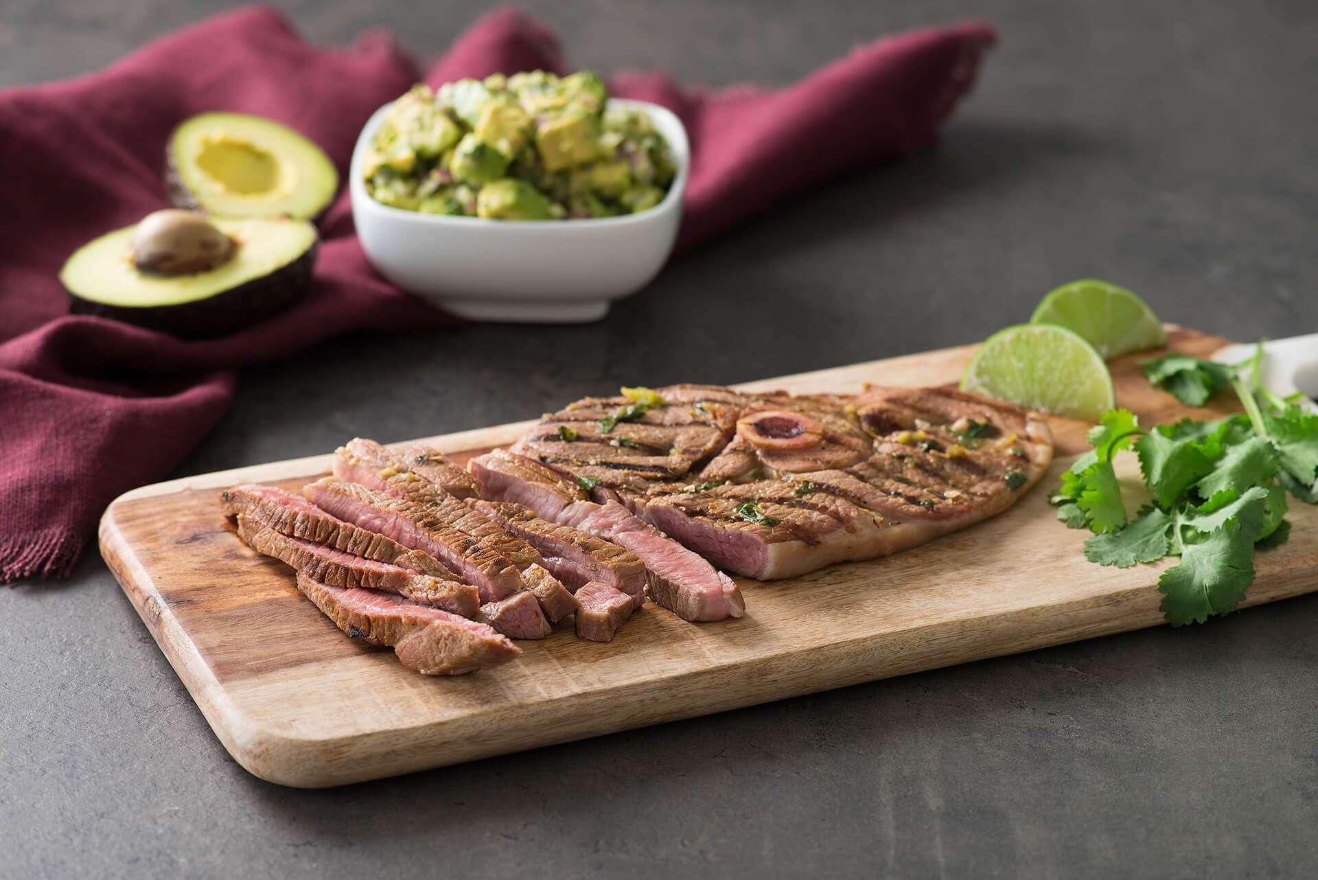 Grilled Mojo Lamb Steaks