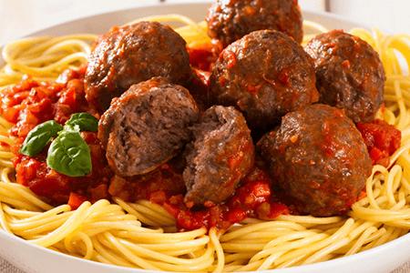 Spaghetti and Lamb Meatballs