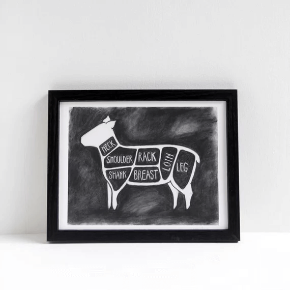 SunGold | Chalkboard illustration of lamb cuts