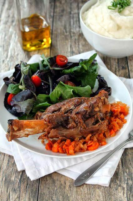 Slow Cooker Citrus Lamb Shanks