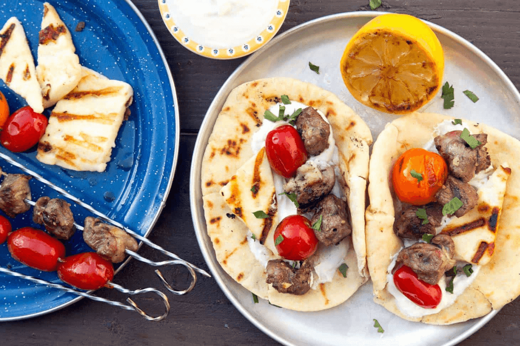 Who knew that gyros are perfect camping food?